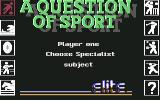 A Question of Sport Commodore 64 Choose specialist subject