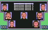 A Question of Sport Commodore 64 At the start of the game, you need to select a question block
