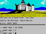 Robin of Sherwood: The Touchstones of Rhiannon ZX Spectrum A castle on sand, though not a sandcastle