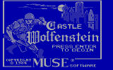 Castle Wolfenstein DOS Title screen