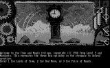 Time and Magik: The Trilogy DOS Game selection (Monochrome)