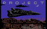 F-19 Stealth Fighter Commodore 64 Title screen