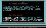 F-19 Stealth Fighter Commodore 64 Mission briefing