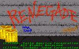 Renegade DOS Title screen (VGA)