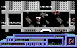 Death or Glory Commodore 64 Flying past a destroyed part of a large ship