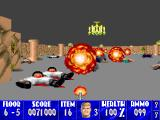 Wolfenstein 3D Macintosh Nazipocalypse thanks to the flamethrower.