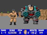 Wolfenstein 3D Macintosh Massive minigun toting boss