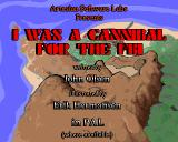 I was a Cannibal for the FBI Amiga Title screen