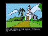 Death in the Caribbean Apple II Outside of a church