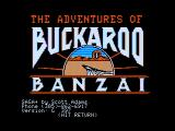 The Adventures of Buckaroo Banzai: Across the Eighth Dimension Apple II Title screen