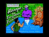 Alcazar: The Forgotten Fortress Apple II Title screen