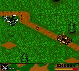 Army Men: Air Combat Game Boy Color Attacking a tank.
