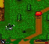 Army Men: Air Combat Game Boy Color Explosion after defeating a tank.