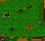 Army Men: Air Combat Game Boy Color Attacking a truck and an RPG.