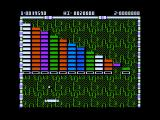 Arkanoid Apple II Level 2 - each level features different brick patterns.