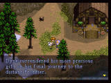 Lunar: Silver Star Story Complete PlayStation Talking to an NPC in the game's first town