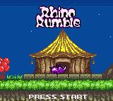 Rhino Rumble Game Boy Color Start screen for the game.
