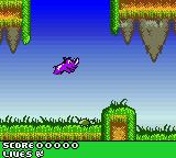 Rhino Rumble Game Boy Color Jumping over a turtle to avoid dying from touching it.