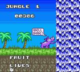 Rhino Rumble Game Boy Color The end of level 1.