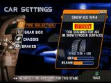 Need for Speed: V-Rally 2 PlayStation Car setup screen