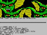 Gremlins: The Adventure ZX Spectrum Game Over