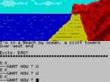Scott Adams' Graphic Adventure #10: Savage Island Part One ZX Spectrum The end of land