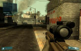 Tom Clancy's Ghost Recon: Advanced Warfighter Windows The enemies are highlighted with red rombs.