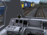 Trainz: Virtual Railroading on your PC Windows G'Day! A Class43 passes by a Class37. The working gauges have us running at just about 100km/h.