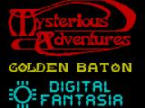 The Golden Baton ZX Spectrum Loading screen