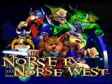 Norse by Norse West: The Return of the Lost Vikings PlayStation Title screen