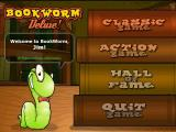 Bookworm Deluxe Windows Menu screen