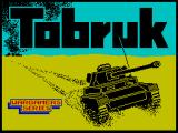 Tobruk: The Clash of Armour ZX Spectrum Main game loading screen