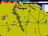 Tobruk: The Clash of Armour ZX Spectrum Starting positions, moving my troops towards the landmine line