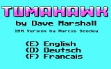 Tomahawk DOS Language selection