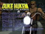 Duke Nukem: Land of the Babes PlayStation Title screen