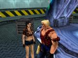 Duke Nukem: Land of the Babes PlayStation She tells Duke what happened.