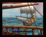 Pirates: The Legend of Black Kat PlayStation 2 Loading screens vary, but they always depicts what's coming next, weather you're about to go sailing, ship combat, fencing, etc..