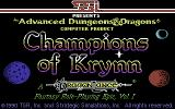 Champions of Krynn Commodore 64 Title screen