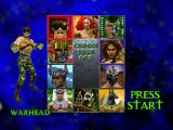 War Gods Nintendo 64 Select Fighter Screen