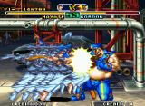 Savage Reign Neo Geo Hayate hit-damaging Gordon accurately through the range of his boomerang-dashing attack KyoretsuZan.