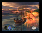Pirates: The Legend of Black Kat PlayStation 2 Bumping into an enemy ship can make a certain amount of damage if you do it right, otherwise, you may loose a sail of two.