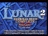 Lunar 2: Eternal Blue Complete PlayStation Title screen