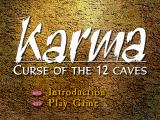 Karma: Curse of the 12 Caves Windows 3.x Title screen