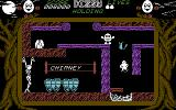 Dizzy: The Ultimate Cartoon Adventure Commodore 64 Using a laser pistol to kill the ghost
