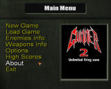 Gunner 2 Windows Main menu