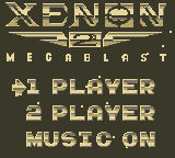 Xenon 2: Megablast Game Boy Title Screen