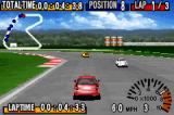 GT Advance Championship Racing Game Boy Advance Gameplay shot, with a Honda Civic TypeR running on the Hornet circuit.