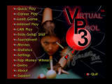 Virtual Pool 3 Windows Main menu