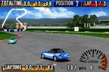 GT Advance Championship Racing Game Boy Advance Gameplay shot, with a Mazda MX-5 Miata running on the Hornet circuit.