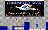 Commander Keen 2: The Earth Explodes DOS Episode 2 title screen